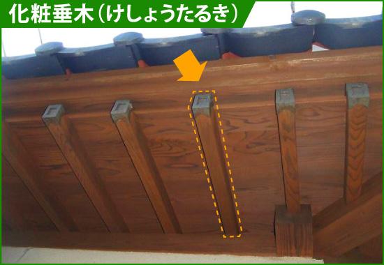 化粧垂木(けしょうたるき)