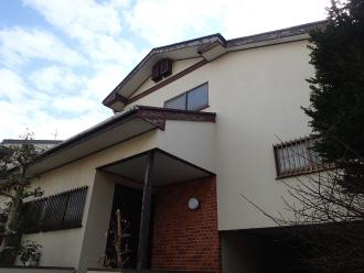 モルタル外壁の家