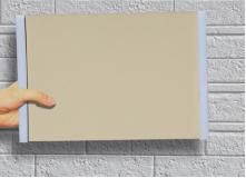 外壁に重ねたサンプルボード