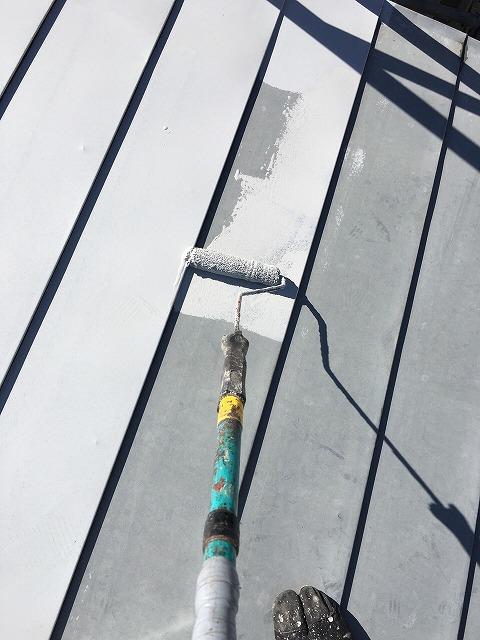 トタン鋼板の横葺き屋根サビ止め