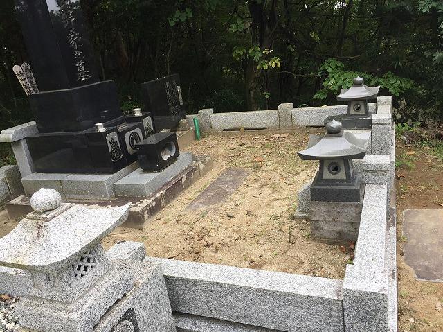 上段 墓地改修前