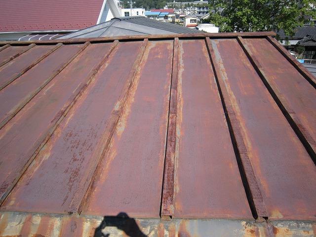 トタン屋根さび