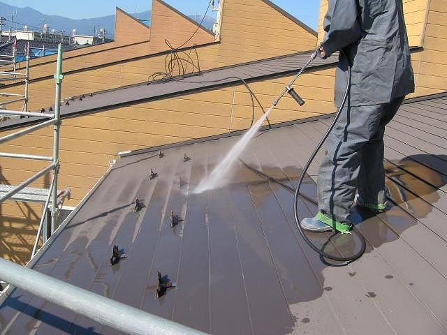アパート屋根高圧洗浄