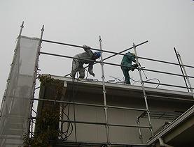屋根高圧洗浄(2階)