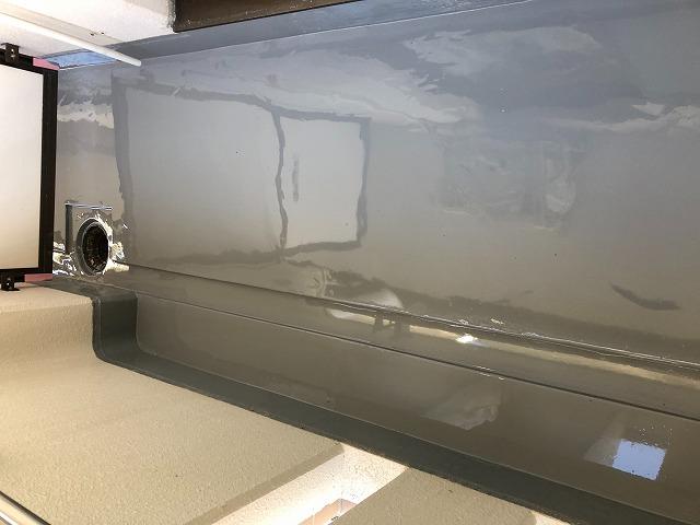 ウレタン防水上塗り完了