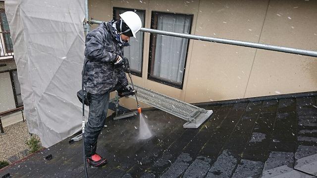 屋根洗浄②