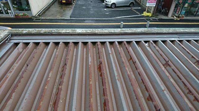 車庫屋根の状況