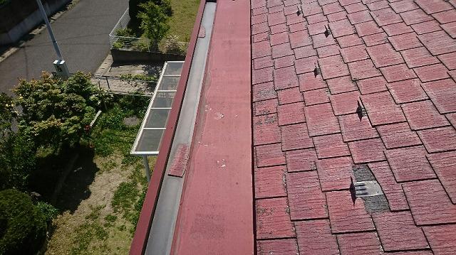 屋根材の欠損