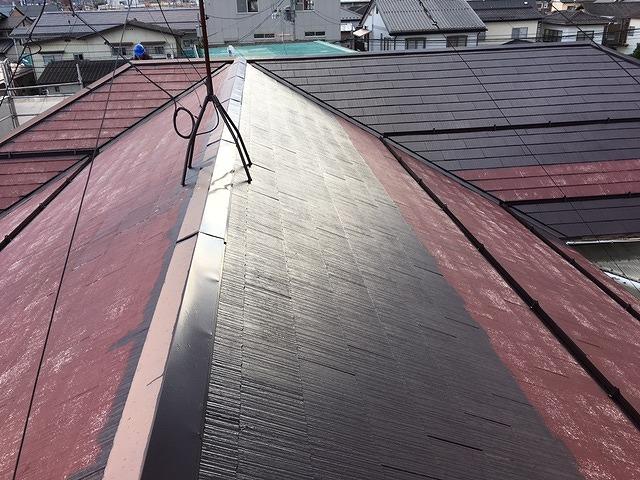コロニアル屋根中塗り