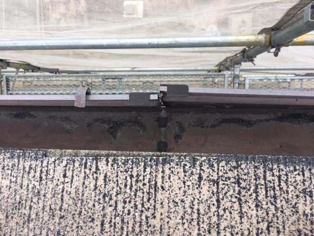 高圧洗浄後の雨樋