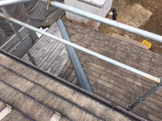 高圧洗浄後の1階の屋根