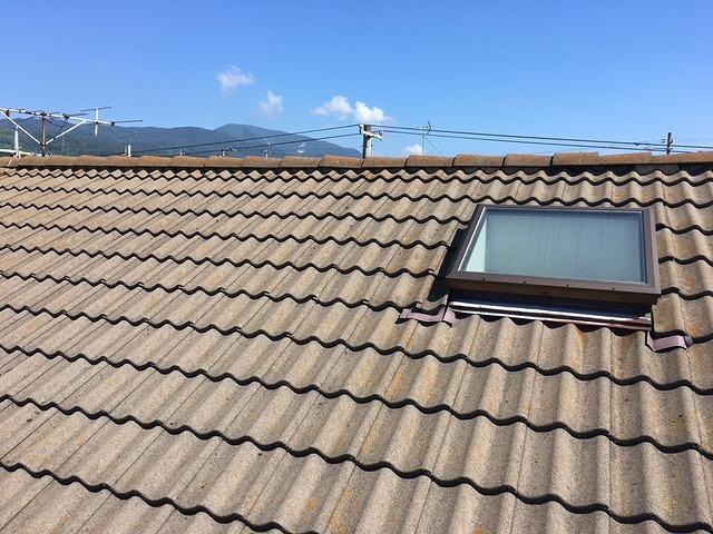 屋根塗装前セメント瓦