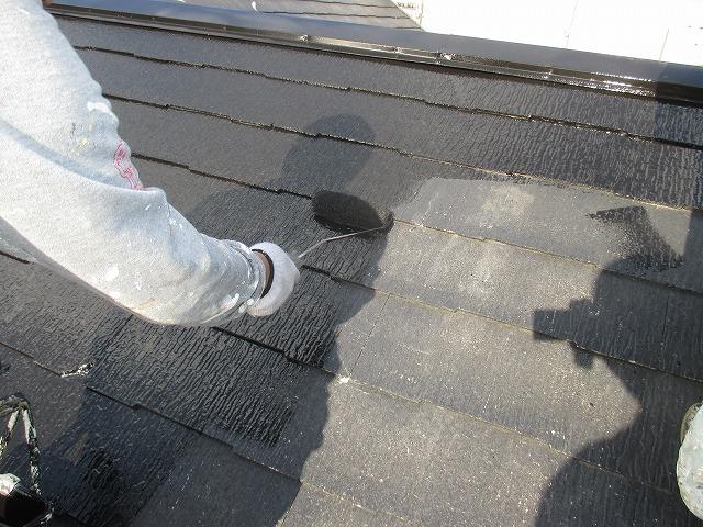 屋根シリコン塗布
