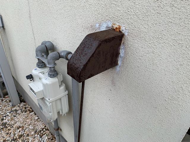外部の水抜き栓