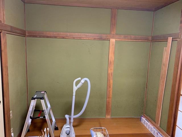和室の壁と木部の状況