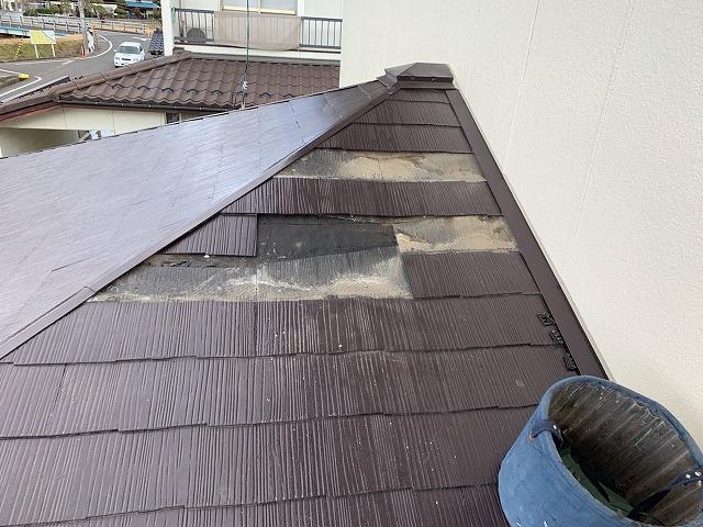 屋根撤去状況