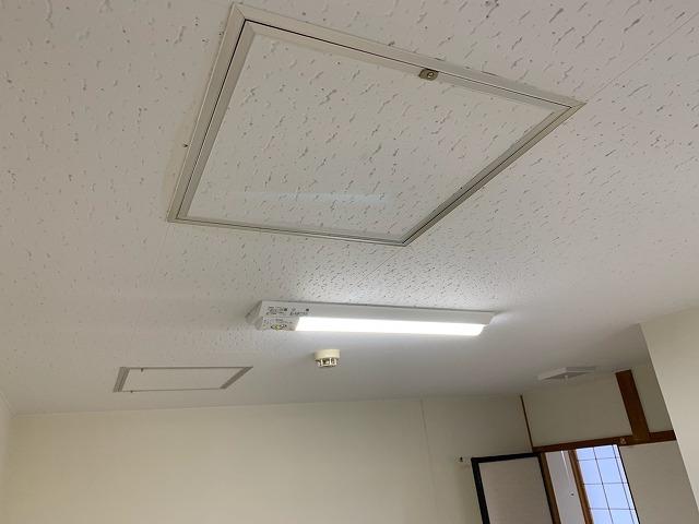 天井塗装完成状況