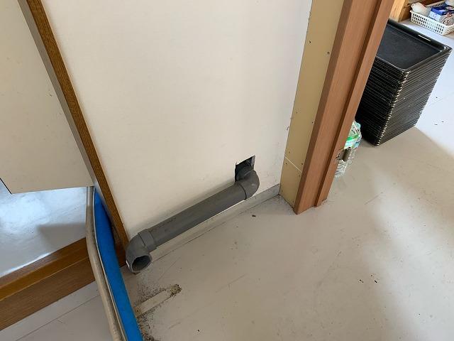 排水管穴補修前