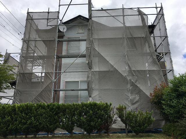 塗装足場組立完了