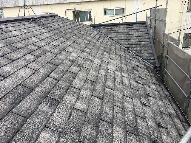 二階堂の屋根洗浄完了