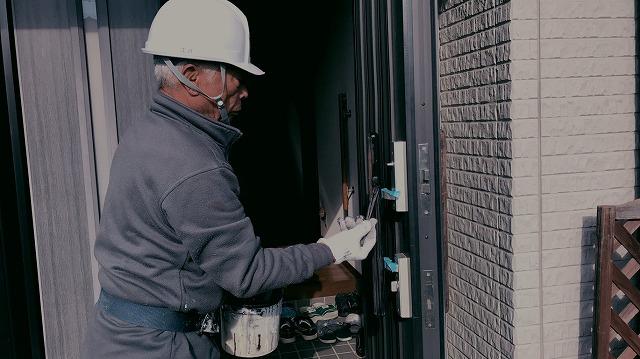 ドア取っ手塗装