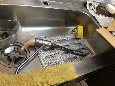 既設レバー式混合栓