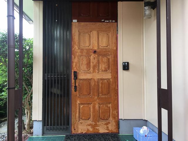 玄関ドア途中