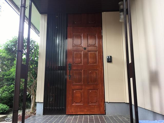 扉塗装完成