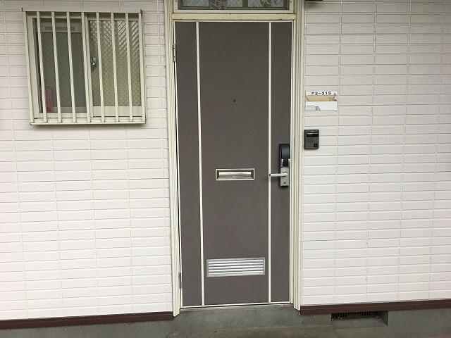 アパートドア塗装調査