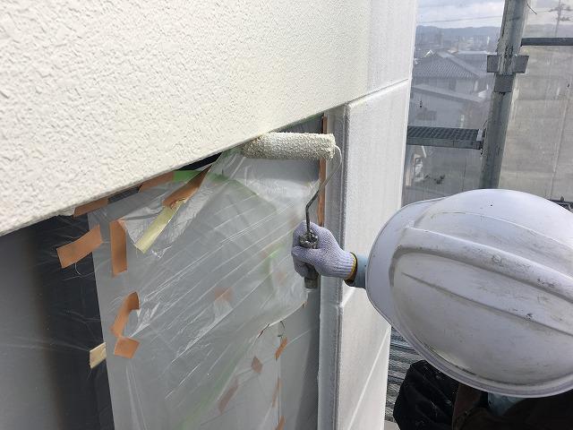 ALC外壁中塗り塗装