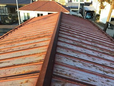 トタン屋根の現調