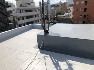 ビル屋上の防水の様子