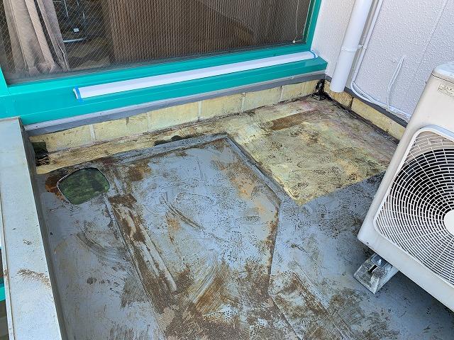 シート防水掃除
