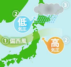 蝦夷梅雨の説明図