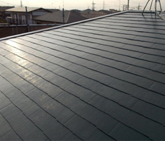 スレート屋根塗装、竣工