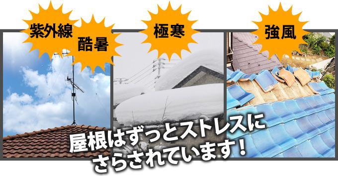 屋根はずっとストレスにさらされています!