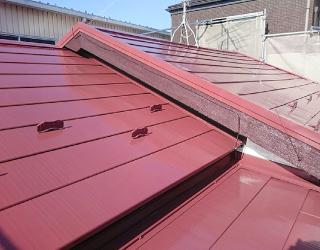 塗装後の金属屋根
